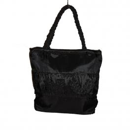 Grand sac en tissu   noir