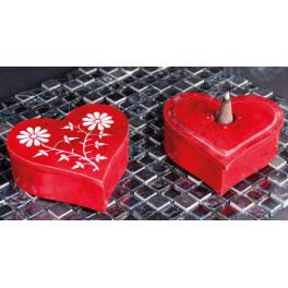Boîte à cônes en coeur avec contenant de rangement
